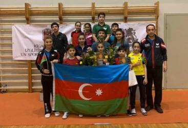 Stolüstü tennisçilərimiz Riqada üç medal qazanıblar