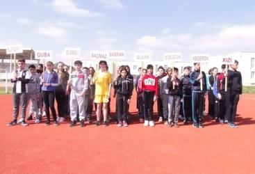 Xaçmazda atletika üzrə zona yarışları keçirilib